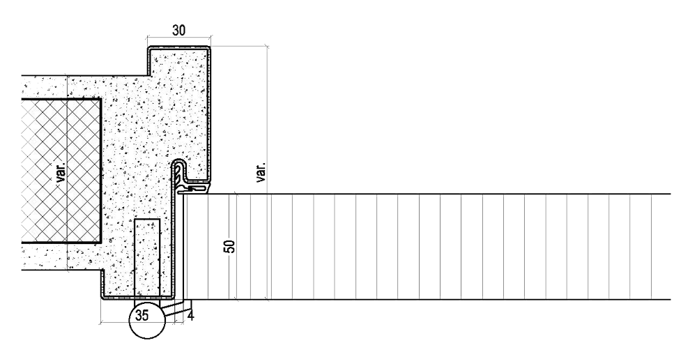 Stahlzargen Montage Skizze